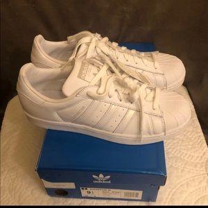 Women's super star shoe white/grey